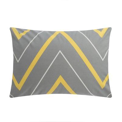 "Pillow case ""Ethel"" yellow-gray zigzags 50*70, 100% cotton, poplin, 125 g / m2"