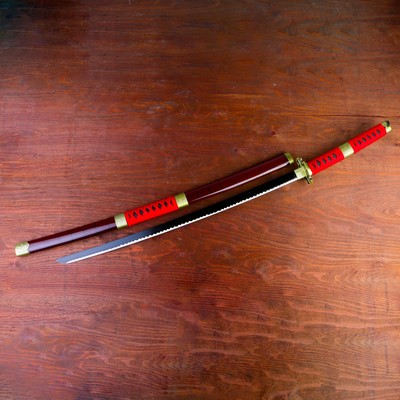Сувенирное оружие «Катана», красные ножны, вставка с обвязкой, 100см