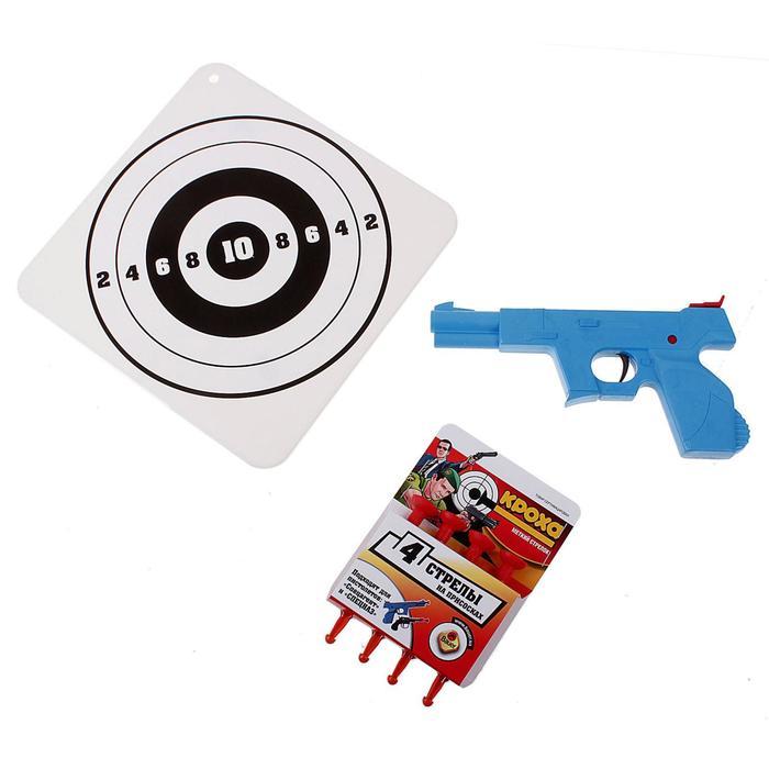 Пистолет большой с мишенью «Спецназ»