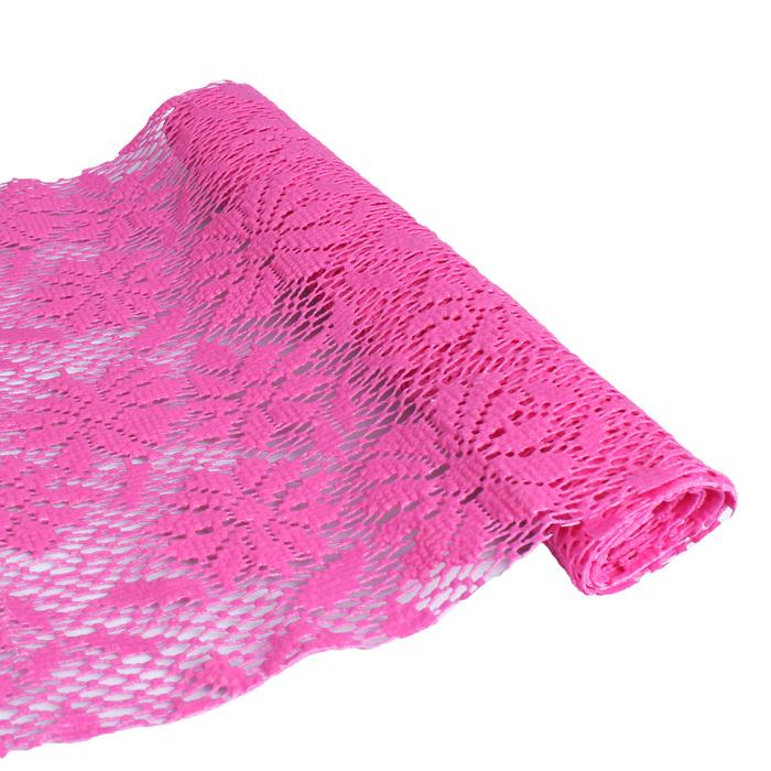 """Коврик противоскользящий 30х100 см """"Цветы"""", цвет розовый"""