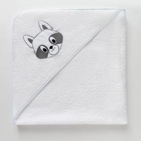 Полотенце-уголок махровый Крошка Я «Енотик» 85х85 см