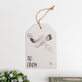 "Decorative hooks ""Bird and snowflakes"" 15x10x1, 5 cm"