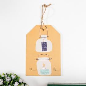 "Decorative hooks ""Candles in jars"" 15x10x1, 5 cm"