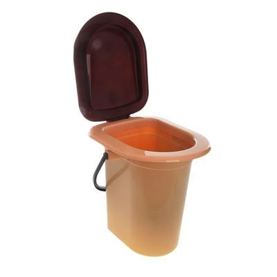 Туалет дачный, без дна, с креплением к полу, бежевый