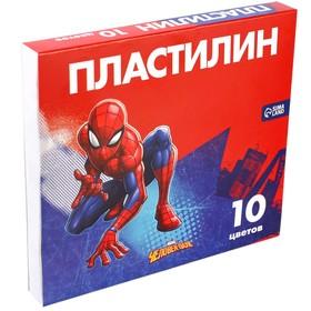Пластилин 10 цветов 150 г «Супергерой», Человек-паук