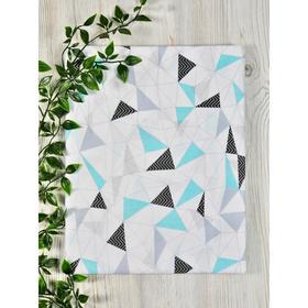 Ткань перкаль премиум софт, размер 150 × 150 см, принт треугольники