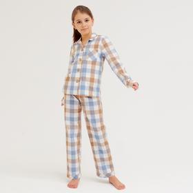 Комплект детский (рубашка, брюки) MINAKU: Home collection KIDS цвет синий, рост 116