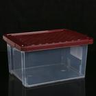 Ящик для хранения с крышкой Optima, 17 л, 40,5×30,5×21 см, цвет МИКС - фото 285791655