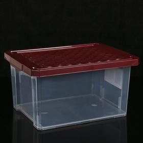 Ящик для хранения с крышкой Optima, 17 л, 40,5×30,5×21 см, цвет МИКС