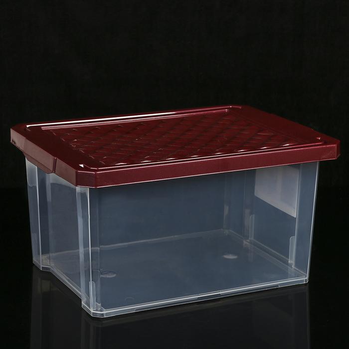 """Ящик для хранения прямоугольный с крышкой 17 л """"Optima"""", цвет МИКС"""