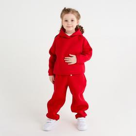 Худи детское MINAKU: kids цвет красный, рост 104 см
