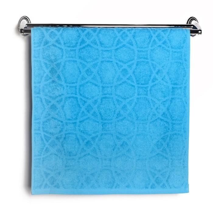 """Полотенце махровое """"Итума"""", цвет голубой атолл, 380 гр/м2"""