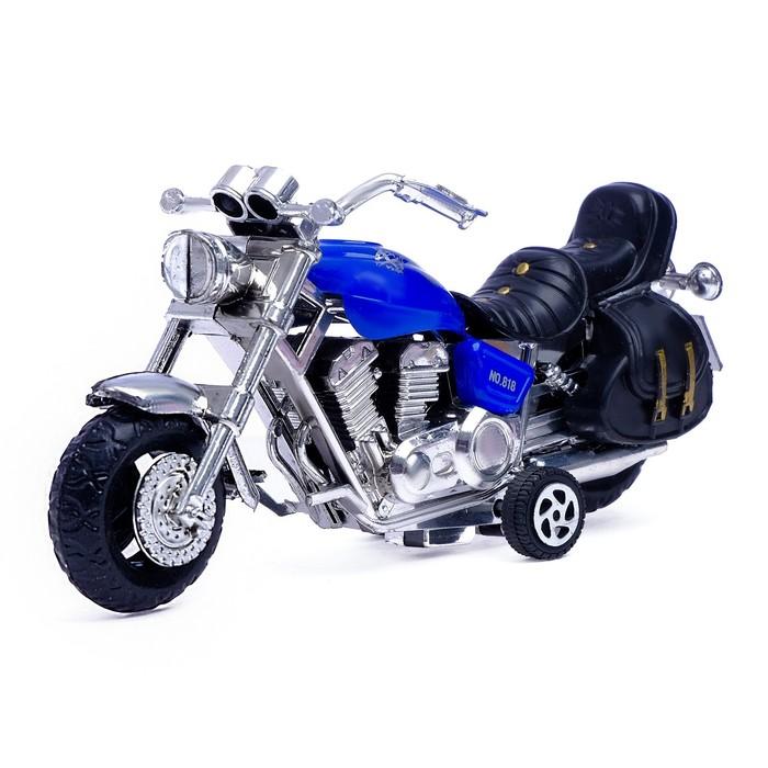 Мотоцикл инерционный «Харлей», цвета МИКС