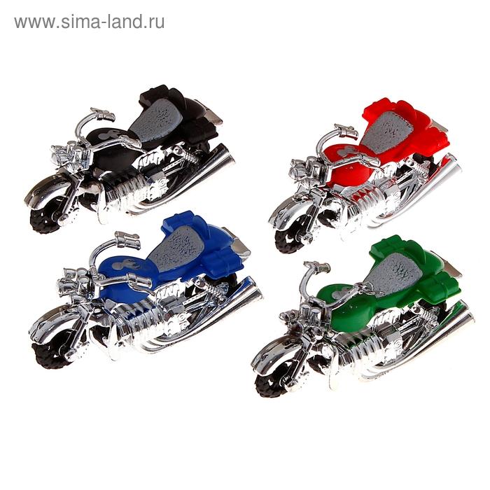 "Мотоцикл инерционный ""Харлей"", набор 4 шт."