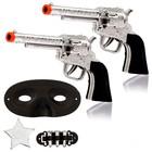 Set cowboy Sheriff, 2 guns, mask, icon