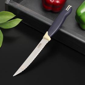 Нож кухонный «Мультиколор», для овощей, лезвие 11,5 см, с пластиковой ручкой