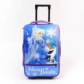 Чемодан детский «Эльза», 32 x 23 x 42 см, отдел на молнии, н/карман, Disney
