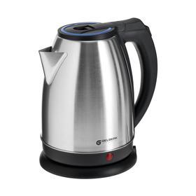 Чайник электрический GELBERK GL-300, металл, 1.8 л, 1500 Вт, серебристо-синий
