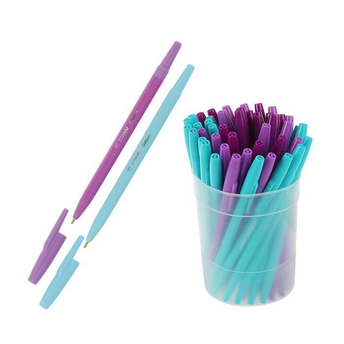 """Ручка шариковая «Стамм» """"Галактика"""", узел 1.0 мм, чернила синие, стержень 135 мм, микс"""