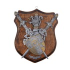 Макет 2-х мечей с щитом и геральдикой на панели
