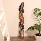 Панно настенное дерево Геккон расписной выс. 100см МИКС