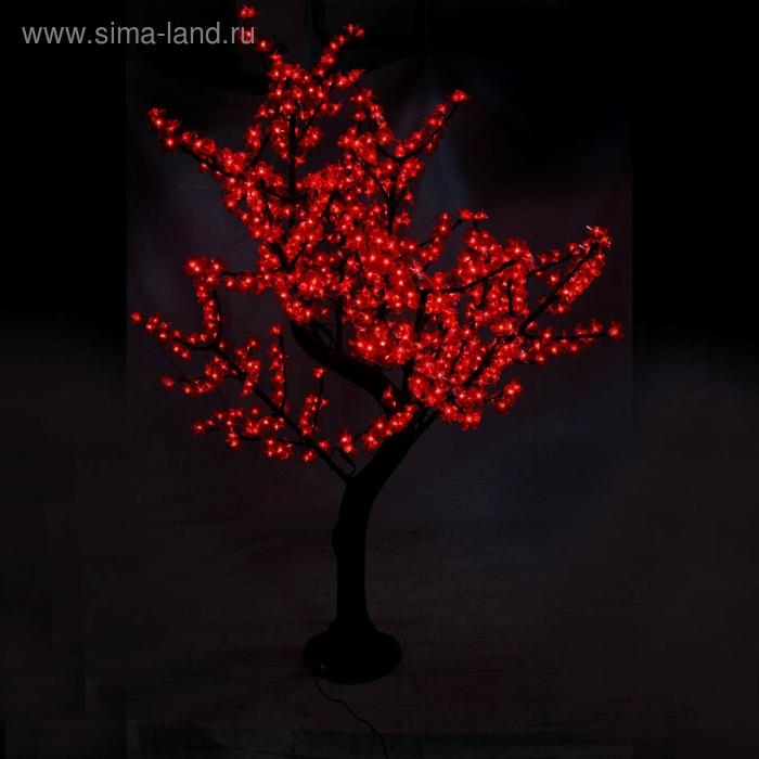 Светодиодное дерево уличное 1,8 м, 220V, 35 Вт КРАСНЫЙ