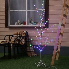 Светодиодный куст уличный 1,5 м, 'Ромашки', 32 LED, 220V, моргает МУЛЬТИ Ош
