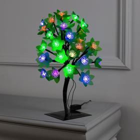 """Светодиодный куст улич. 0.3 м, """"Цветы"""", 32 LED, 220V, моргает МУЛЬТИ"""