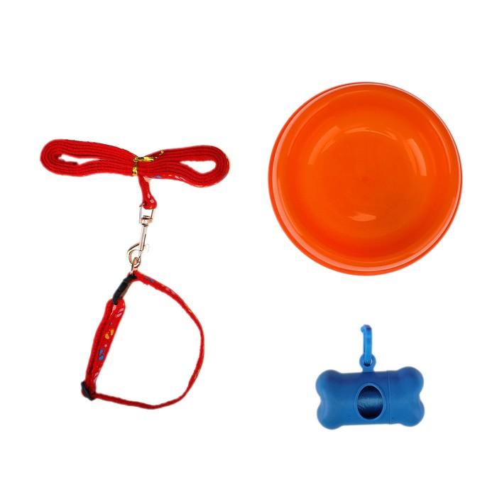 Стартнабор для щенка (миска, поводок, пупер-скрупер) 33,2*35*6,3 см