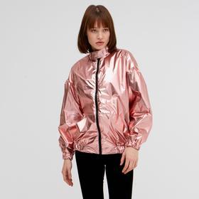Бомбер женский MINAKU: Trend zone, цвет розовый, размер 38, рост 152