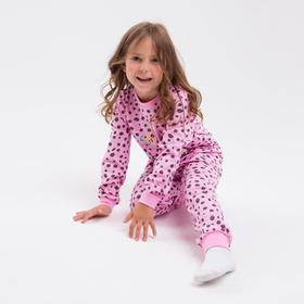 Пижама для девочки, цвет розовый, рост 104 см