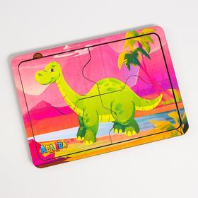 Деревянный пазл «Динозавр» 4 детали