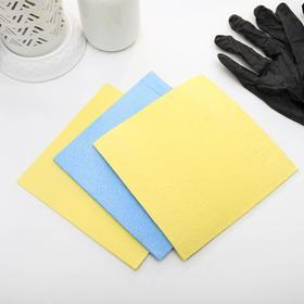Набор губчатых салфеток для кухни 15×15 см, 3 шт, цвет МИКС - фото 4643869