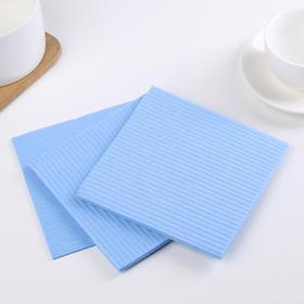 Набор губчатых салфеток для кухни 15×15 см, 3 шт, цвет МИКС - фото 4643871