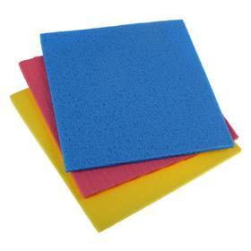 Набор губчатых салфеток для кухни 15×15 см, 3 шт, цвет МИКС - фото 4643872
