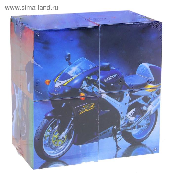 "Кубики ""Мотоциклы"", 4 штуки"