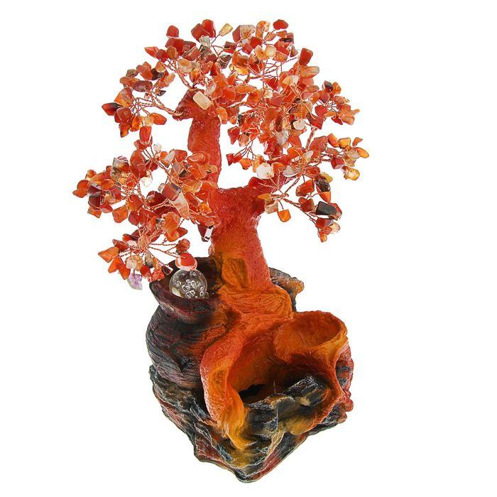 """Фонтан """"Кувшинчик с деревом"""", красно-янтарный"""