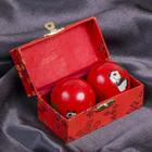 """Поющие шары Баодинга (шары здоровья) (набор 2шт) d=4,5 см """"Панда"""", цвет синий"""