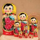 Матрёшка «Семёновская», жёлтый платок, 10 кукольная, 24 см, ручная работа - фото 1564741