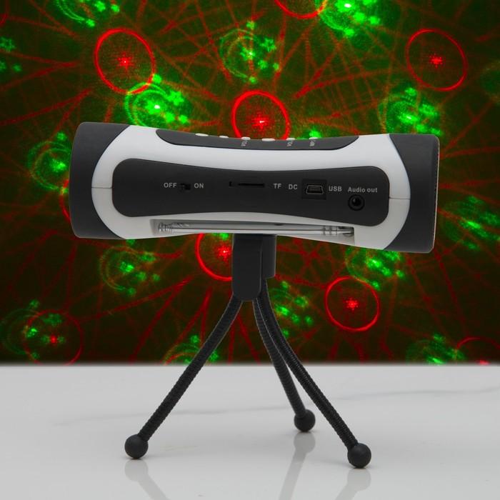 Световой приборТелескоп 8 картинок круглый с музыкой V220, пластик металл