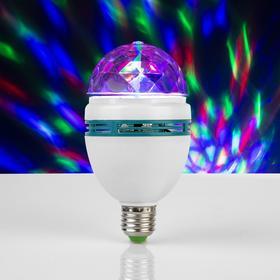 Лампа хрустальный шар, d=8 см. эффект зеркального шара 17х8х8 V220, тип цоколя Е27