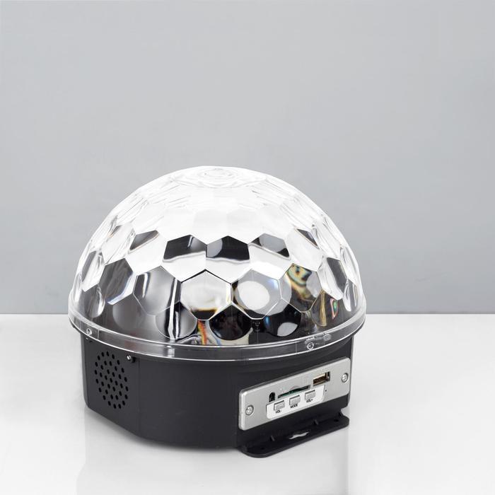 Световой прибор хрустальный шар диаметр 17,5 см с музыкой V220