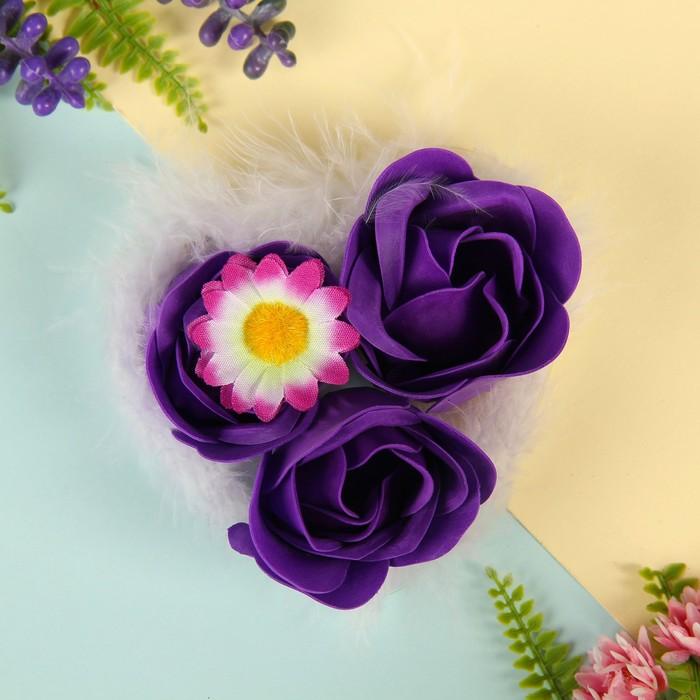 """Мыльные лепестки (набор 3 шт) """"Утренний цветок"""", цвета МИКС"""