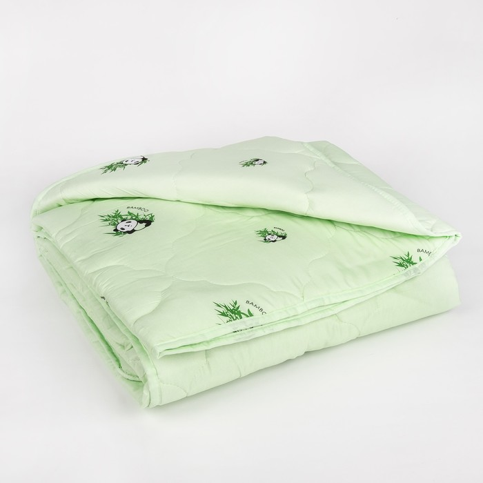 "Одеяло всесезонное Адамас ""Бамбук"", размер 140х205 ± 5 см, 300гр/м2, чехол п/э - фото 76715453"