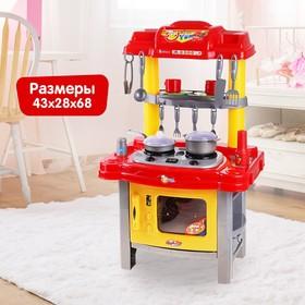 """Игровой набор """"Кухня хозяйки"""", световые и звуковые эффекты, работает от батареек, высота: 69 см, цвета МИКС"""