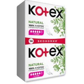 Прокладки «Kotex»  Natural супер/14 шт./