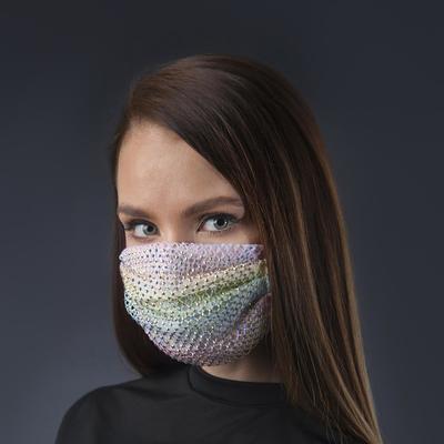 Decorative mask, mesh, rainbow