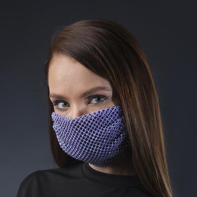Decorative mask, mesh, color iridescent purple