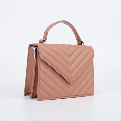 Women's bag L-5131, 21*8*16, otd on the valve, belt length, n / pocket, powder
