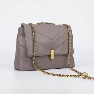 Women's bag L-002, 29*9*21, otd on the valve, belt length, n / pocket, grey